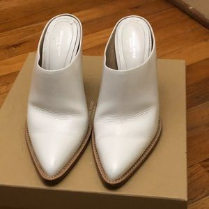 Michael Kors collection point toe white mules